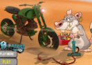 Rat Op Een Dirt Bike Game